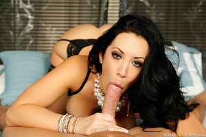 You don't want to fuck with a tough chick like Jayden Jaymes. But what's lead the happily married busty beauty to such extremes? An hour earlier, she was one on one with her loving husband, taking his thick cock deep in her pretty plump lips and perfect l