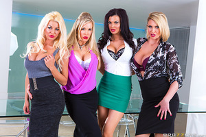 Jasmine Jae, Leigh Darby, Rebecca Moore, and Tia Layne are in charge of sex toy acquisition at one of Britain's leading dildo manufacturers. They're starting to think their task is hopeless when Keiran Lee walks in with the greatest thing to hit the sex t