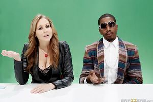 Nancy (Julia Ann) is a right-wing talk show host who's been on a moral crusade against big dicks for months now, and world-famous hip-hop mogul 2 Bangz (Isiah Maxwell) is on her show to defend big-dicked gentlemen everywhere. After trying to hold a calm a