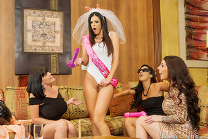 India Summer is having her bachelorette in Vegas, and before that sexy beauty gets tied down to one dick for the rest of her life, she's determined to get one last big cock before the big day! Spotting what she assumes must be a stripper in her hotel room