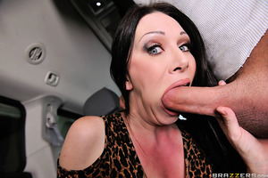 Xander Corvus and his fiancee are out to buy a new car, but Xander isn't too keen on the minivan that she has her eyes on. The sales woman RayVeness, on the other hand, looks pretty great! That MILF beauty was so hungry for cock that she gave him some roa