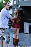 Mark Ashley was struggling to get his novel done, when relief came in the form of a teen drifter who snuck onto his property and hid herself in a corner to pleasure herself. Mark turned the corner and saw Jillian Janson laying on her stomach with that pea