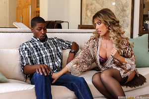 How did Capri Cavanni make her ultimate fantasy of an interracial double-team with her husband and a hung black dude cum true? While vacuuming her living room, Capri stumbled upon her vibrator and immediately used it to tease her clit. In the middle of he