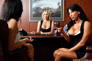Get ready, because you're about to see two of the finest, fittest Milfs in the business show you the ins and outs of working a cock. Lezley Zen ended up in therapist Leigh Darby's office complaining about her daughter's boyfriend's behavior. Since Clover
