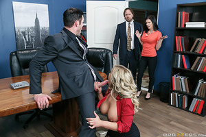 "Ever wonder how to fuck at the office without getting caught, either by your nosy co-workers or a candid camera? Well, renowned office slut Olivia Austin gives you horny office employees a ""How To"" explanation for getting down and dirty at the workplace."