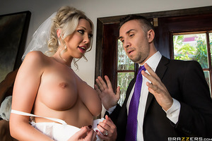 Lexi just got married so she should be the happiest girl in the world, but all she wants is a big, thick cock - and not the one attached to her awful new husband. She persuades the best man to fuck her face and her pussy while her new husband waits for hi