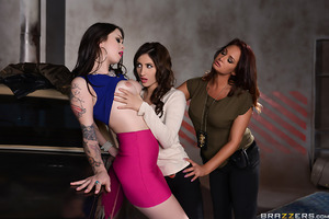 In this episode of Milf Squad Vegas, hard boiled cop Tory Lane is saddled with a new partner, a green young rookie named Addison Ryder. Eager to learn from her veteran partner, Ryder is about to find out that the mean streets of Vegas are no place for the