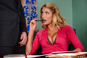 Busty August Ames is trying her best at her new office job. Only thing is she's made a lot of mistakes in her latest reports and has found herself having to stay late to complete her work. Her boss, Charles Dera, has been eyeing her huge tits ever since h