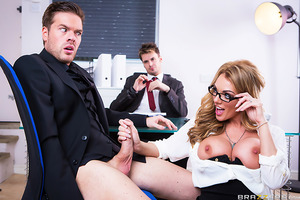 Fresh out of law school, Ryan Ryder has scored a job interview at London's most prestigious firm. After the usual round of questions, Ryan's concentration is tested by acquisitions expert and all-around succulent sexpot Stacey Saran. With her bodacious ra