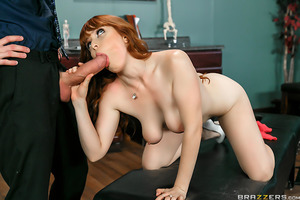 Cute redhead Penny Pax has back problems, so she goes to see a chiropractor. After a thorough hands-on exam, Dr. Danny D decides to straighten her out from the inside using a controversial medical tool: his massive cock.