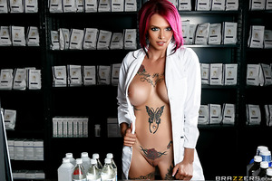 Xander doesn't have much experience with the ladies, so he's a little nervous when he has to go to the pharmacy to buy some condoms. Lucky for him pharmacist Anna Bell Peaks is on hand to teach him the ropes. She's going to show him what he needs to buy a