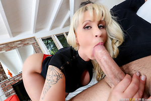 Ryan Conner's daughter has come home in tears. Turns out her boyfriend Keiran dumped her because she didn't want to let him fuck her with his enormous cock. Ryan immediately marches over to Keiran's house to give him a piece of her mind and in return, get