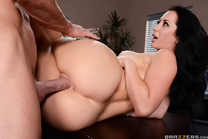 When Johnny Sins busts into her boss's office and refuses to leave, Jayden Jaymes knows exactly what to do to get what she wants. Whipping out her big tits, she lets Johnny worship those huge boobs before dropping to her knees to get a mouthful of his har