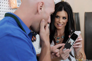 With his job at the hardware store hanging by one loose thread, Johnny bet the boss he would do whatever it took to seal the deal with the next customer who walked in the door. Just his luck it turned out to be that scorching hot Milf India Summer, and sh