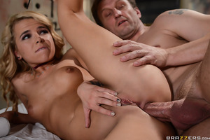 When Alina West gets busted for breaking and entering, she shows her chump friends just how hardcore she can be, promising Mark Ashley the ride of his life if he'll let her trespassing slide. This 19 year old badass has a real problem with authority, so i